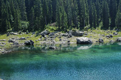 Karersee (lake of Carezza) Royalty Free Stock Image