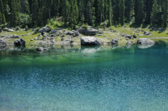 Karersee (lake of Carezza) Royalty Free Stock Photo