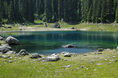 Karersee (lake of Carezza) Royalty Free Stock Photography