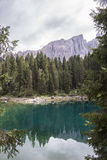 Karersee and reflections Stock Images