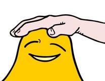 Kares żółta twarz royalty ilustracja