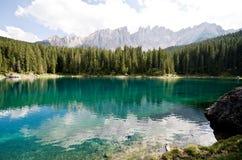 karesu dolomiti jezioro Zdjęcie Royalty Free