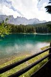 karesu dolomiti jezioro Obraz Royalty Free