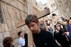 Karfreitag in Jerusalem stockfotografie