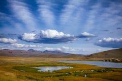 Karga berglandskapAltai berg Mongoliet Fotografering för Bildbyråer