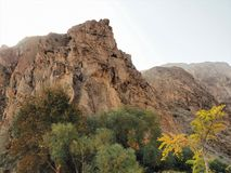 Kargah Buddha góry skały cyzelowanie W Gilgit, gilgit, Północny Pakistan Fotografia Royalty Free