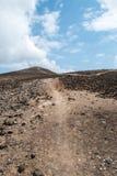 Kargt bergspår (1) Arkivfoton