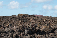 Kargt vulkaniskt landskap Royaltyfri Bild