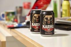 Karhu öl, Finland royaltyfri bild
