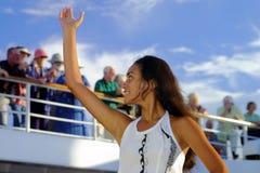 Kari Kari dancer from Easter Island. Kari Kari dancer at Easter Island Stock Photo