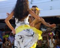 Kari Kari dancers from Easter Island. Kari Kari dancers portrait at Easter Island Stock Photo