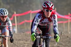 Kari Studley - favorable corredor de Cyclocross de la mujer Imagen de archivo