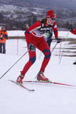 Kari Vikhagen Gjeitnes - Querland-Skifahrer Stockfotografie