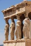 Kariatiden bij Portiek van Erechtheion, Akropolis Royalty-vrije Stock Fotografie