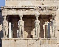 Kariatyd antyczne statuy, erechteion świątynia, Grecja Fotografia Royalty Free