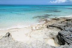 Karibikinsel-Küstenlinie Stockfotos