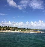 Karibikinsel-Strand-Einsamkeit Lizenzfreie Stockfotografie