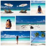 Karibische Collage lizenzfreie stockbilder