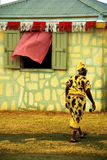 Karibische Frau am Agrarmarkt Lizenzfreies Stockbild