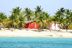 Karibische Häuser. Stockfotografie