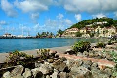 Karibische Küstenlinie Lizenzfreies Stockfoto