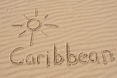 Karibische Meere im Sand Lizenzfreie Stockfotografie