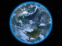 Karibische Meere nachts auf Erde stockbilder