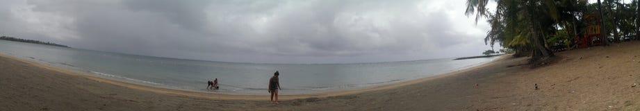 Karibische Puerto- Ricoinsel des Seeozeanwasserstrandsandes Stockfotos
