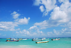 Karibische Seeboote Stockfotos