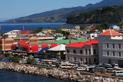 Karibische Stadt Stockfotografie