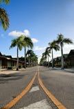 Karibische Straße stockfotografie
