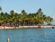 Karibische Strandlandschaft Lizenzfreies Stockbild