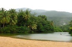 Karibische Strandlandschaft Lizenzfreies Stockfoto