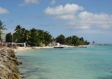 Karibische Strandlandschaft Stockbilder