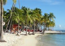 Karibische Strandlandschaft Lizenzfreie Stockfotografie