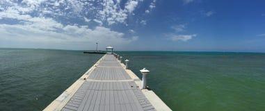 Karibischer Pier Stockfotografie