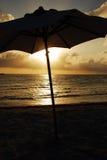 Karibischer Regenschirm stockfotografie