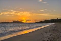 Karibischer Sonnenaufgang Lizenzfreies Stockfoto