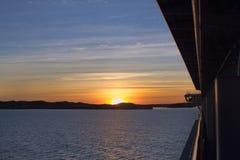 Karibischer Sonnenaufgang Lizenzfreie Stockfotos