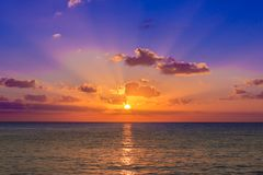 Karibischer Sonnenuntergang Stockbilder