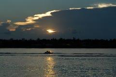 Karibischer Sonnenuntergang Lizenzfreie Stockfotos