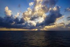 Karibischer Sonnenuntergang Stockfoto