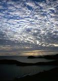 Karibischer Sonnenuntergang Lizenzfreie Stockbilder
