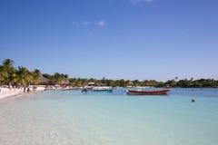 Karibischer Strand Akumal - Mexiko Maya-Riviera Stockfotografie