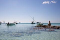 Karibischer Strand Akumal - Mexiko Maya-Riviera Lizenzfreies Stockfoto