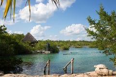 Karibischer Strand Akumal - Mexiko Maya-Riviera Lizenzfreie Stockfotos
