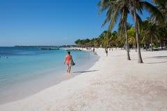 Karibischer Strand Akumal - Mexiko Maya-Riviera Lizenzfreie Stockbilder