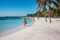 Karibischer Strand Akumal - Mexiko Maya-Riviera Lizenzfreies Stockbild