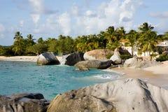 Karibischer Strand in BVI Stockbilder