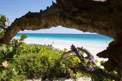 Karibischer Strand Mexiko Tulum Lizenzfreie Stockfotos